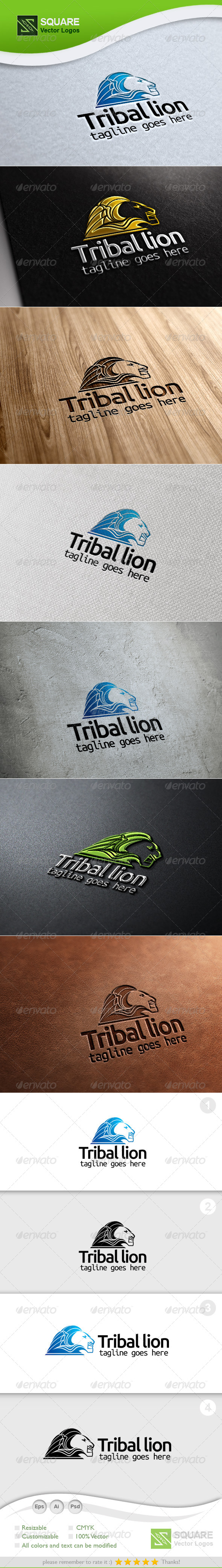 GraphicRiver Tribal Lion Vector Logo Template 5401000