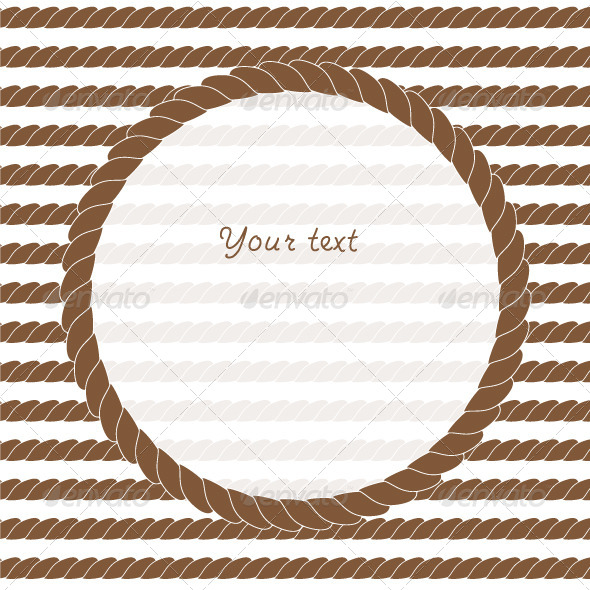 GraphicRiver Brown and White Navy Rope Frame Background 5401088