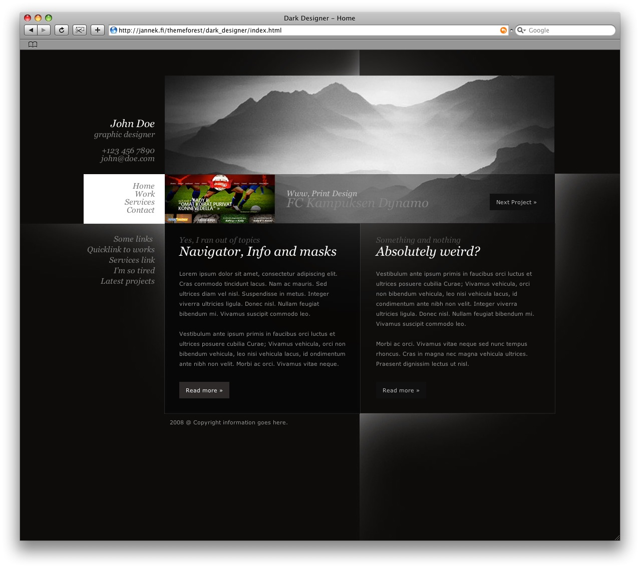 Dark Designer - HTML