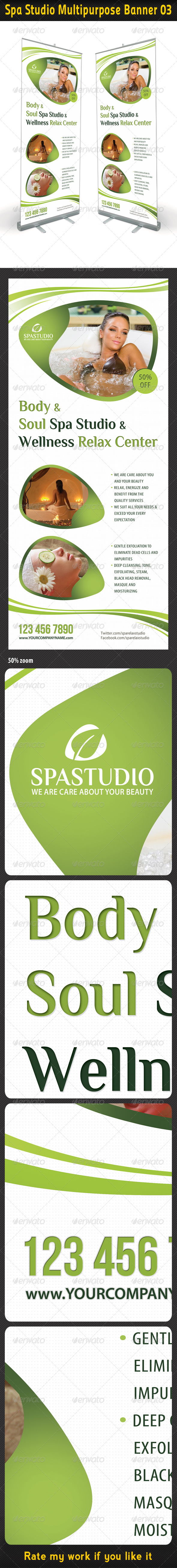 GraphicRiver Spa Studio Multipurpose Banner 03 5401626