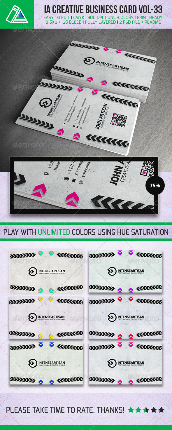 GraphicRiver IntenseArtisan BUSINESS CARD VOL.33 5401798