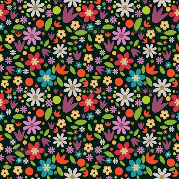 GraphicRiver Floral Pattern 5401818