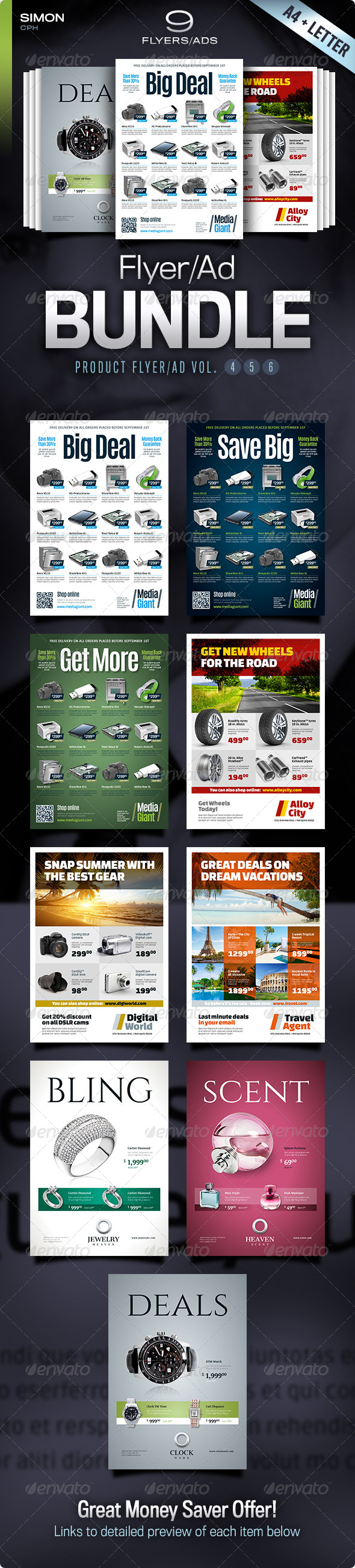 GraphicRiver Product Flyer Ad Bundle Vol 4-5-6 5401834