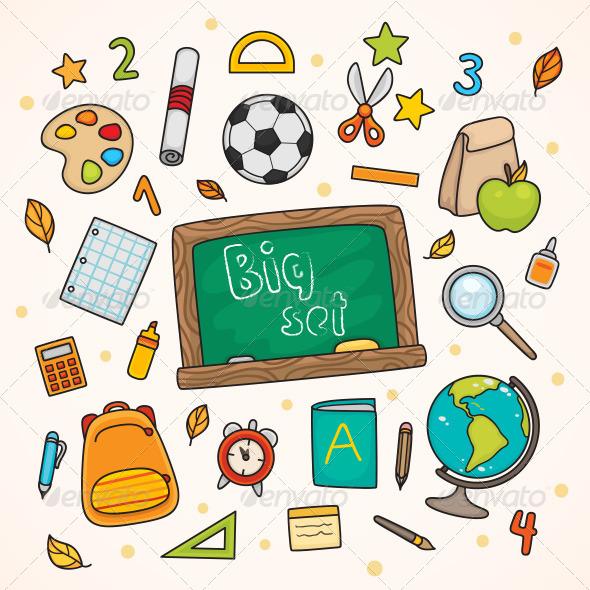 GraphicRiver Back to School Set Big 5402253