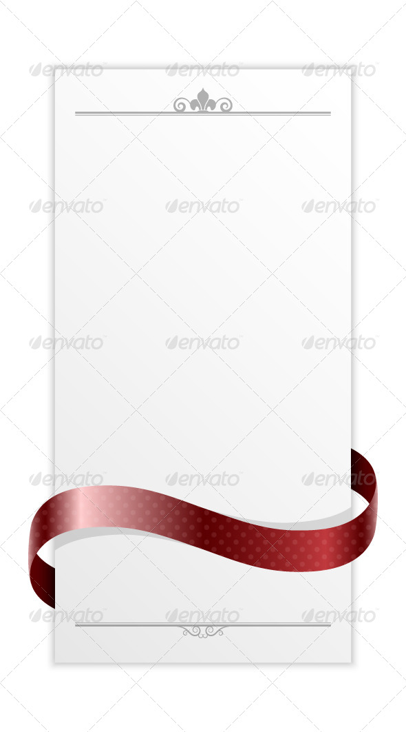 GraphicRiver Paper Frame with Ribbon 5402440