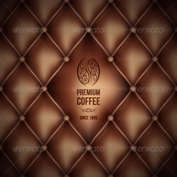 GraphicRiver Coffee Abstract Leather Background 5402453