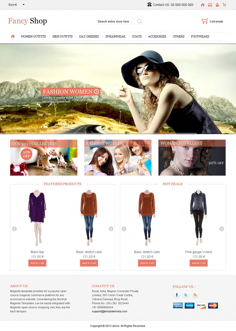 Fancy Shop - VirtueMart Responsive Theme