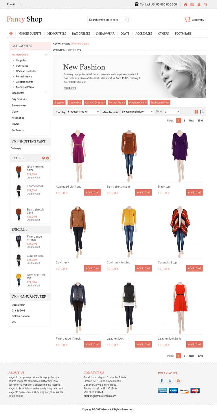 Fancy Shop - VirtueMart Responsive Theme