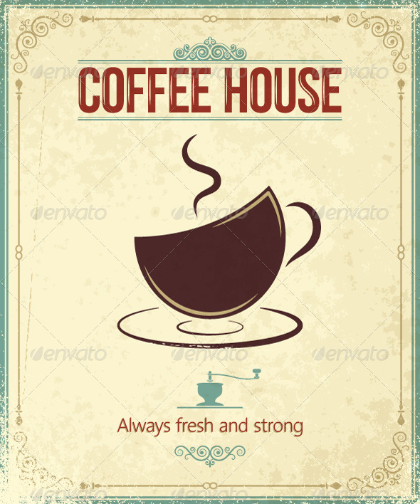 GraphicRiver Vintage Coffee Background 5402520