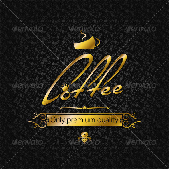 GraphicRiver Coffee Vintage Golden Background 5402560