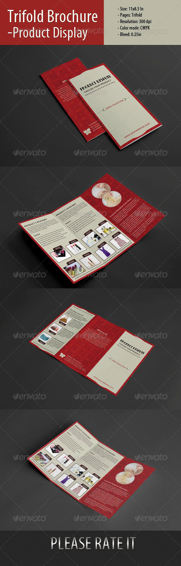 GraphicRiver Trifold Brochure For Product Display-2 5351052