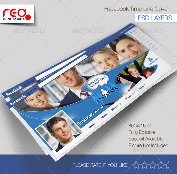 GraphicRiver Corporate Business Facebook Timeline 5402756