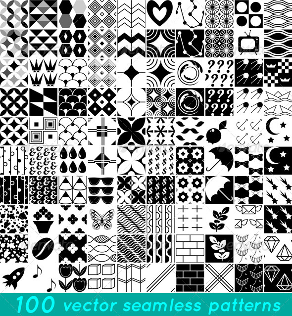 GraphicRiver Vector Patterns Set 5402793
