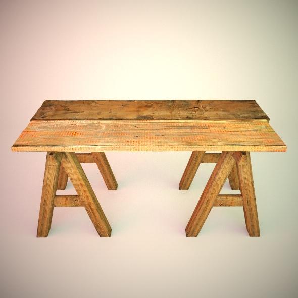 3DOcean Work Table Wood VrayC4D 5402904
