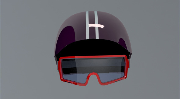 3DOcean Ski Helm & Googles 5403647