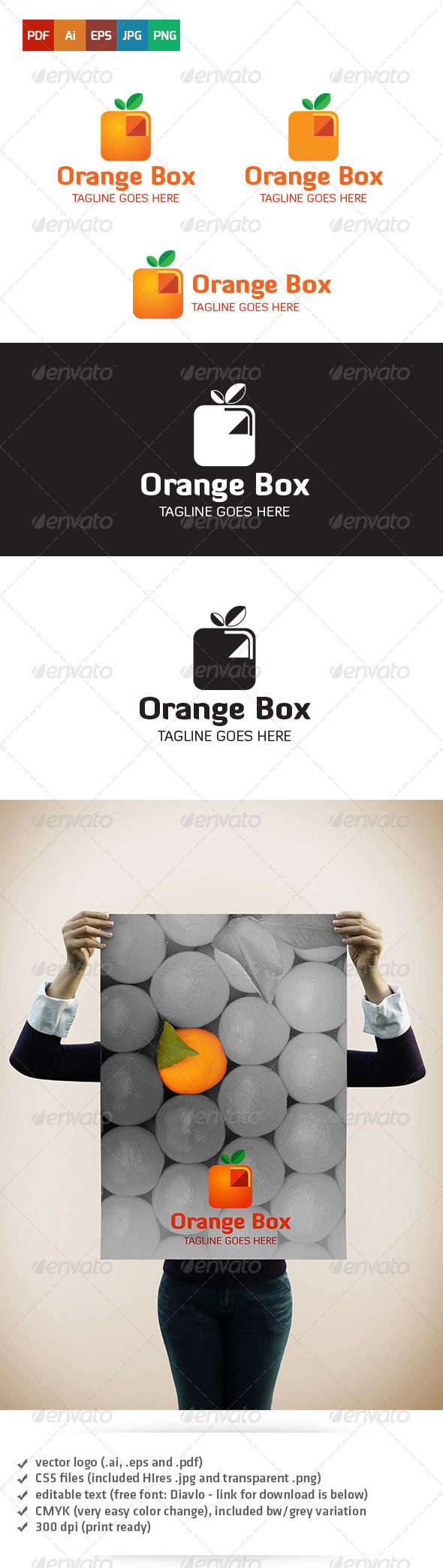 GraphicRiver Orange Box Logo 5403707