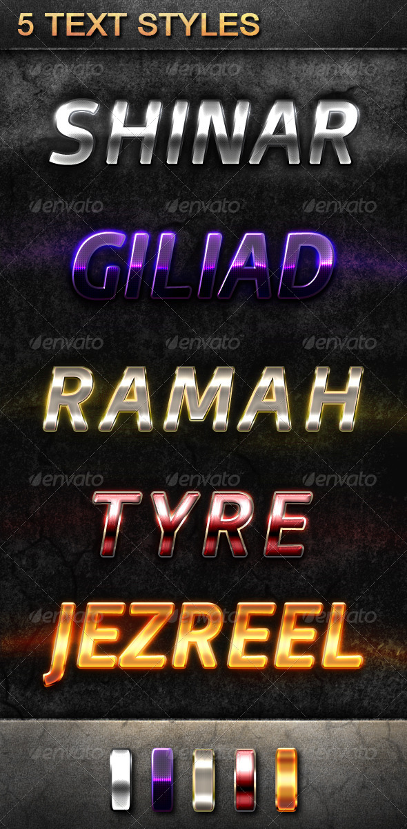 GraphicRiver 5 Text Styles 5403870