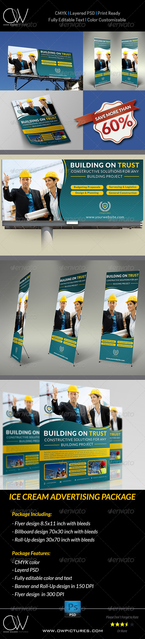 GraphicRiver Construction Advertising Package 5403883