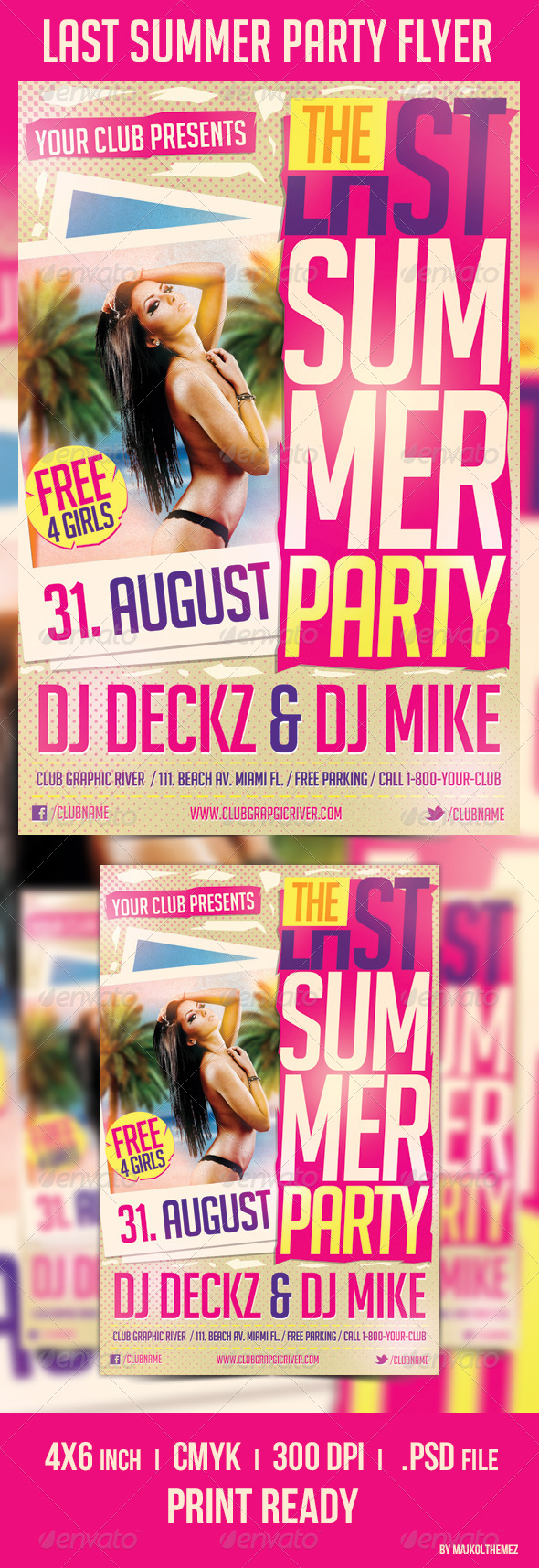 Last Summer Party Flyer Template - Clubs & Parties Events