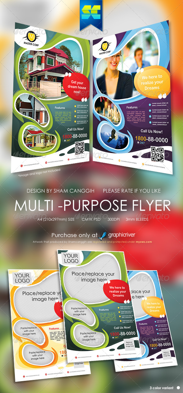Modern Multi-Purpose Corporate Flyer - Corporate Flyers