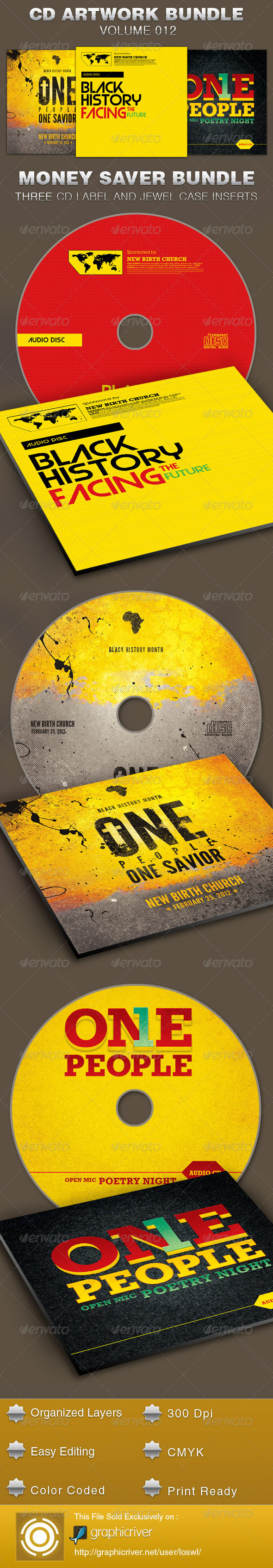CD Cover Artwork Template Bundle-Vol 012 - CD & DVD artwork Print Templates