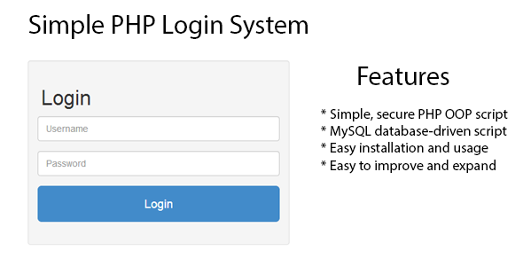 Simple PHP Login System (PHP Scripts) images