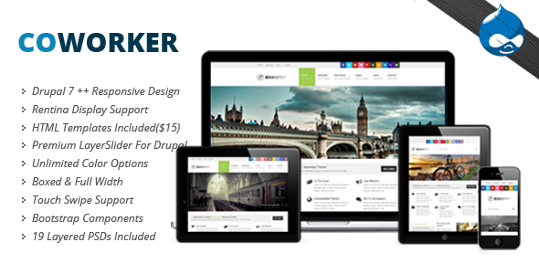 Coworker – Responsive Drupal Theme