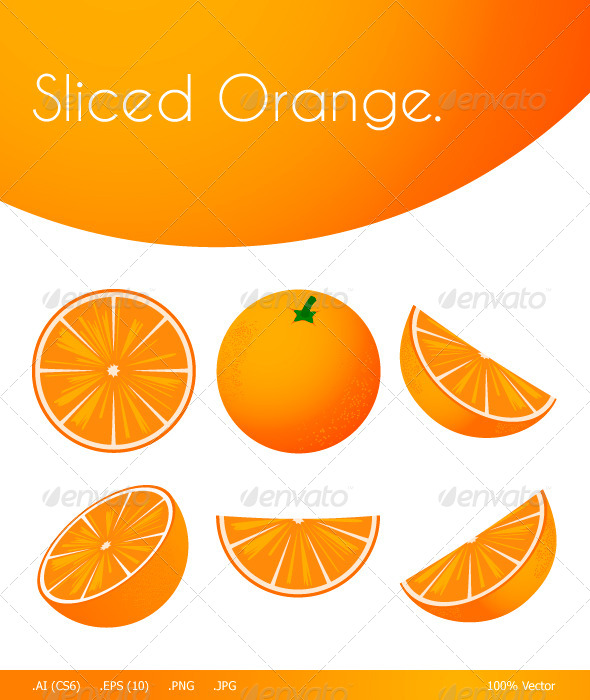 GraphicRiver Sliced Orange 5404993
