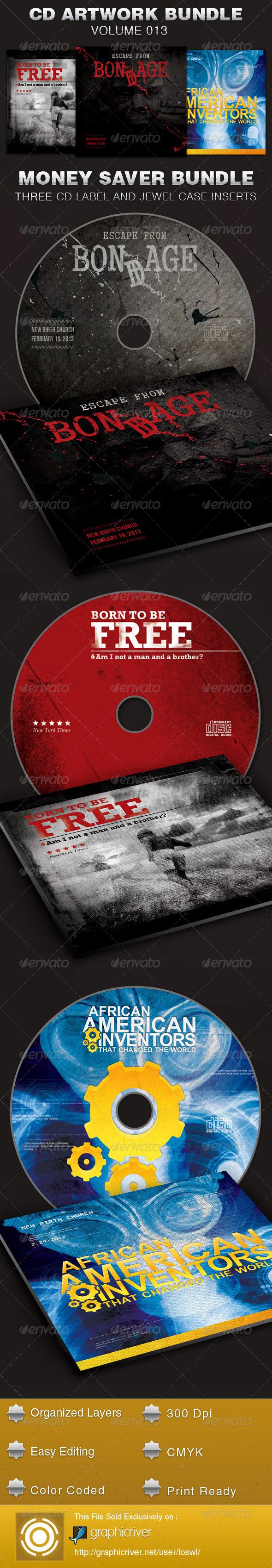 CD Cover Artwork Template Bundle-Vol 013 - CD & DVD Artwork Print Templates