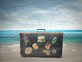 Suitcase on the Sea