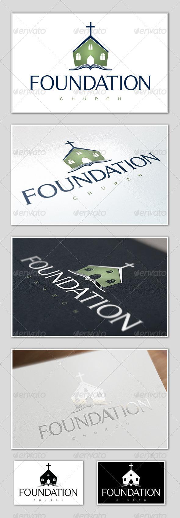 GraphicRiver Foundation Church Logo Template 5405100