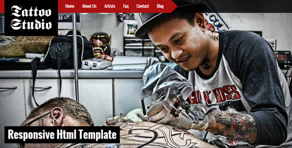 ThemeForest Tattoo Studio Responsive HTML5 Template 5405457