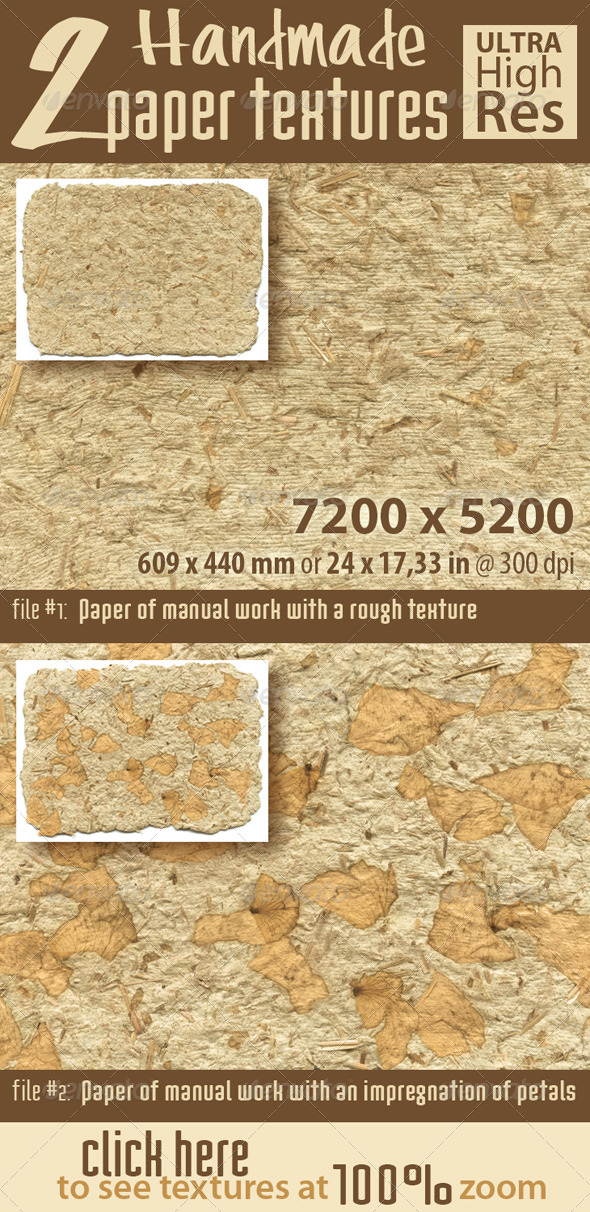 GraphicRiver Texture of Handmade Paper with Dried Petals 5405582