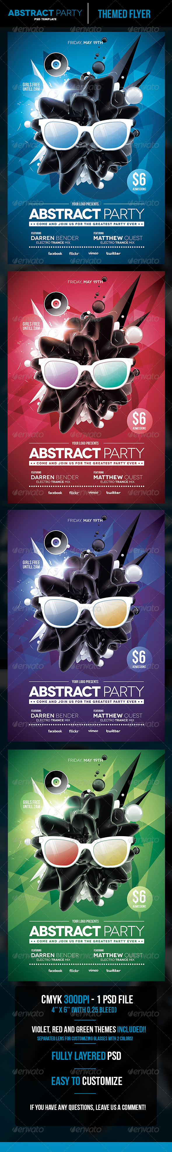 GraphicRiver Abstract Party Flyer Template 5376268