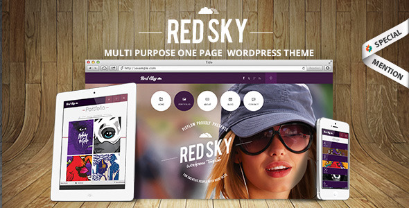 Red Sky - One Page Creative Theme - Portfolio Creative