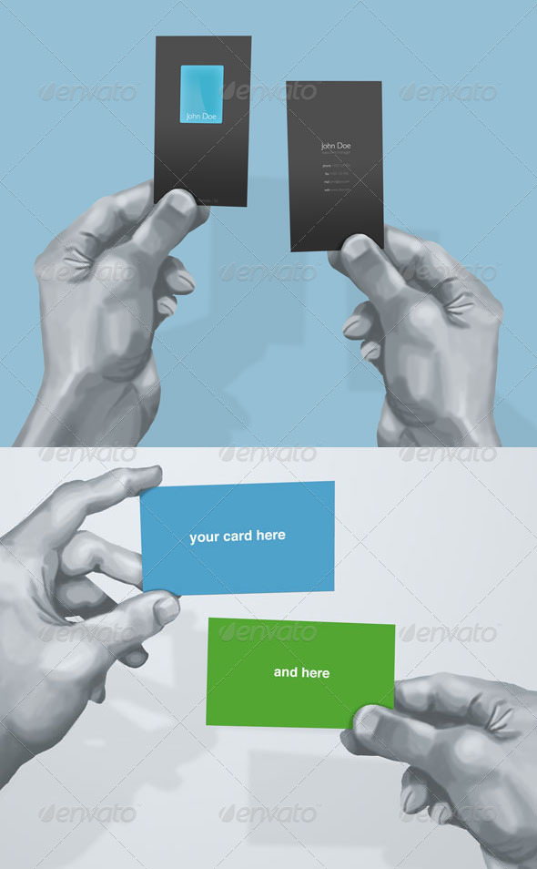 GraphicRiver Hand Drawn Business Card Mockup 5405867