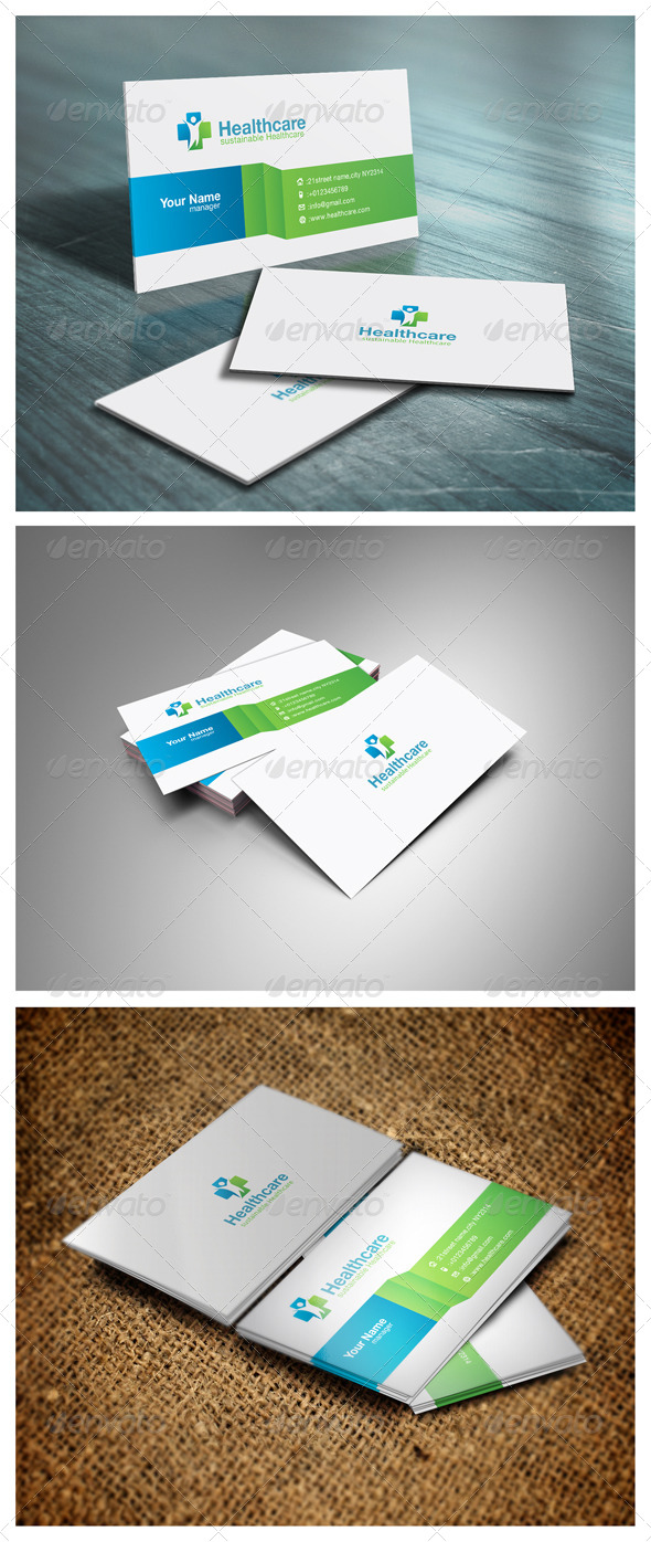 GraphicRiver Healthcare Business Card 5406080