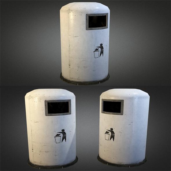 Trashbin 01 - 3DOcean Item for Sale