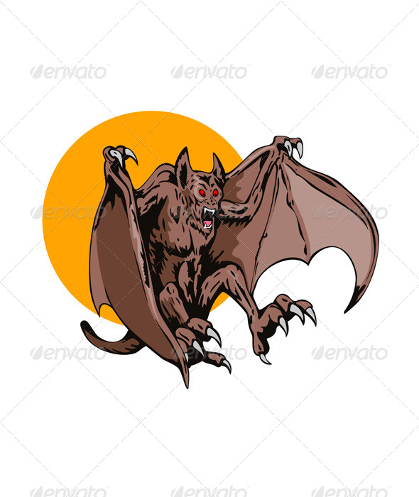 GraphicRiver Bat Monster Retro 5406167