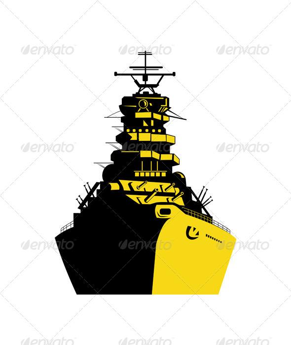 GraphicRiver World War Two Battleship Retro 5406256