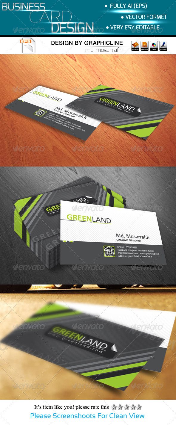 GraphicRiver Greenland Creative Business Card Design 5406272