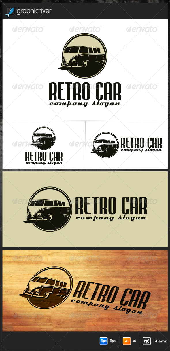Retro Car Logo Templates