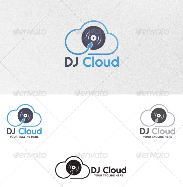 GraphicRiver DJ Cloud Logo Template 5406813