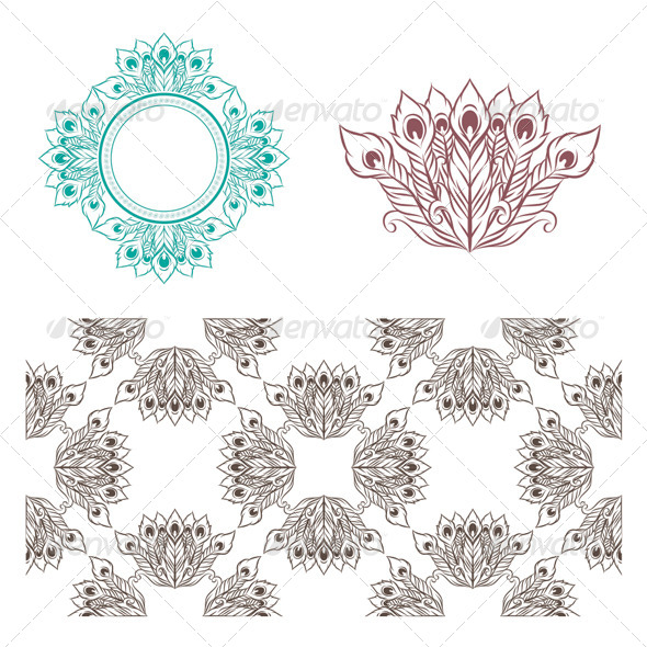 GraphicRiver Peacock Pattern 5406819