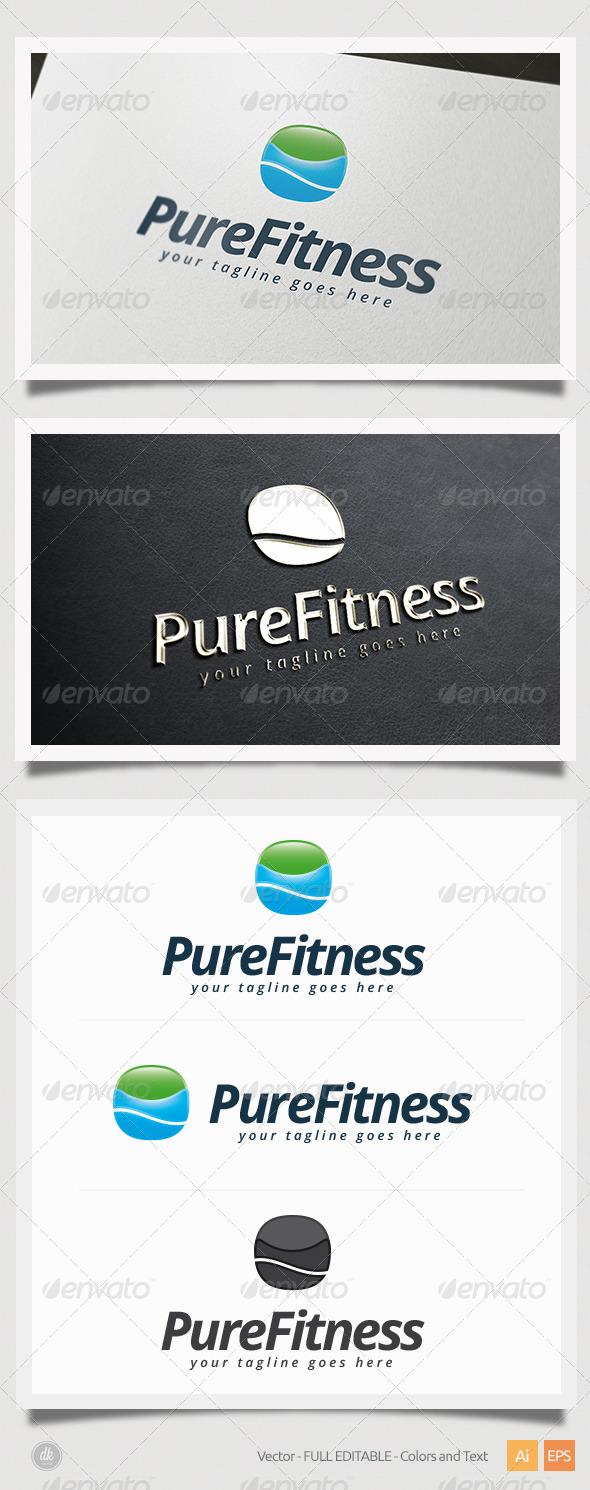 GraphicRiver Pure Fitness Logo 5406829