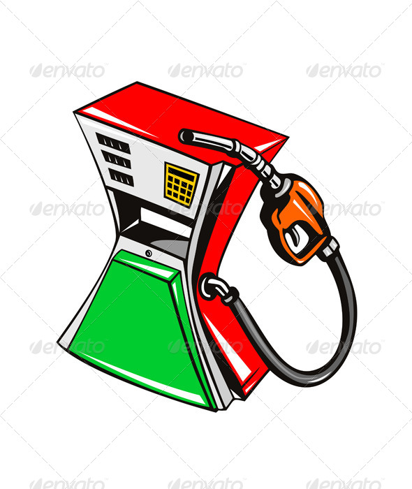 GraphicRiver Fuel Pump Station Nozzle Retro 5406854