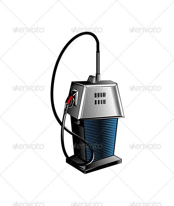GraphicRiver Fuel Pump Station Retro 5407163
