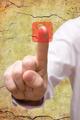 Hand Pressing Telephone Symbol