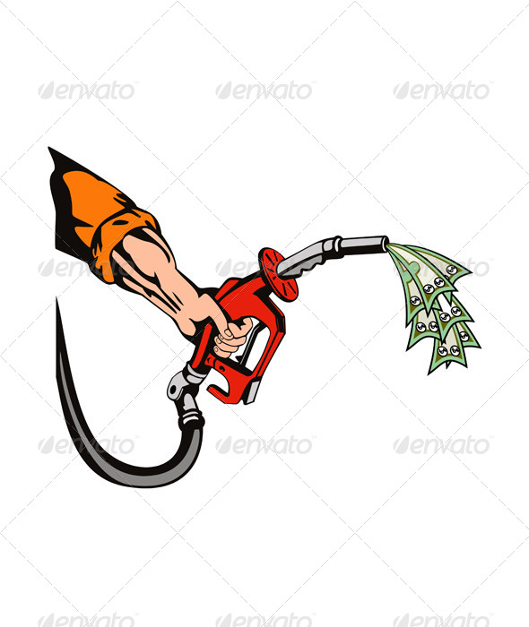 GraphicRiver Hand Holding Gas Fuel Pump Nozzle 5407308