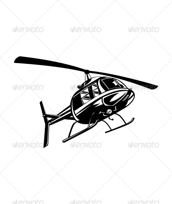 GraphicRiver Helicopter Chopper Retro 5407334